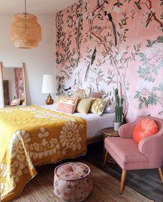 Decoration Bedroom, Bohemian Bedroom Decor, Boho Living Room, Whimsical Bedroom, Bedroom Rustic, Funky Bedroom, 70s Bedroom, Bohemian Style Bedrooms, Bird Bedroom