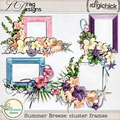 Summer Breeze: Cluster Frames by LDrag Designs