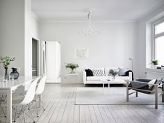 Simple and Minimalist All-White Apartment in Gothenburg - NordicDesign