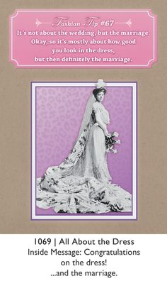 Fashion Tips Greeting Card - Bridal Shower Beauty Advice, Vintage Beauty, Congratulations, Bridal Shower, Marriage, Greeting Cards, Funny, Fashion Tips, Wedding
