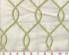 """pearl 100/% cotton Hepburn Embroidered Upholstery Drapery Fabric 59/"""" wide fabric"""