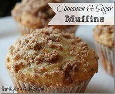 Cinnamon Sugar Muffins Recipe: a yummy breakfast option your family will love