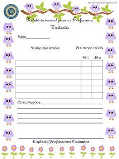 Modelo de relatório(simples) para as Professoras Visitantes. Arquivo em pdf ´