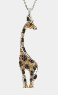 Sterling Silver Citrine & Smoky Quartz Giraffe Pendant by Dazzling Jewelry Treasures on Giraffe Decor, Giraffe Art, Cute Giraffe, Giraffe Ring, Funny Giraffe, Giraffe Jewelry, Animal Jewelry, Giraffe Clothes, Wood Craft Patterns