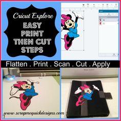 Easy Steps To Cricut Explore Print Then Cut |