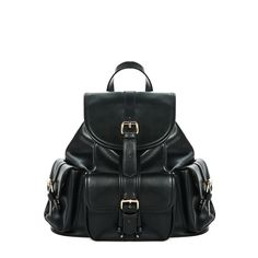 Fashion and function combine in this sleek, essential backpack. It boasts plenty of storage space plus three exterior pockets and chic buckle details.