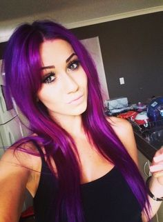 This is exactly what my hair looked like purple- Pravana Violet is the best dye everrrrr