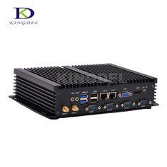 Best price 8G RAM+500G HDD Intel Celeron C1037U dual core Fanless Industrial dual lan pc,4 RS232 COM port USB 3.0,HDMI
