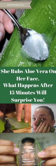 She Rubs Aloe Vera On Her Face. What Happens After 15 Minutes Will Surprise You!