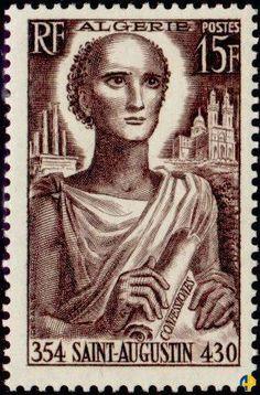 1954 Argelia - San Agustín o Agustín de Hipona o, en latín, Aurelius Augustinus Hipponensis es un santo, padre y doctor de la Iglesia Católica