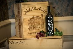 Homemade Wine Crate Card Box by WineryBreweryWedding on Etsy - Lizzy we could get one from a Michigan Winery for your wedding