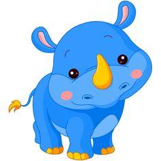 Resultado de imagem para desenho rinoceronte baby