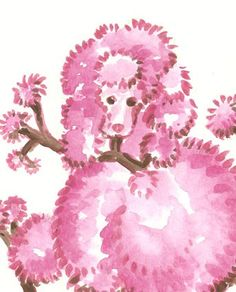 Gotta love a pink poodle.
