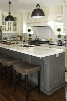 grey, white, marble and black countertops