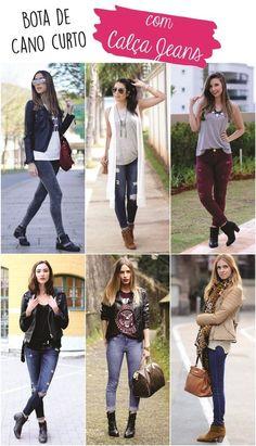 07 - Bota de cano curto com calça jeans