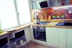 Kuchnia w bloku Kitchen Ideas, Kitchen Cabinets, Home Decor, Decoration Home, Room Decor, Cabinets, Home Interior Design, Dressers, Home Decoration