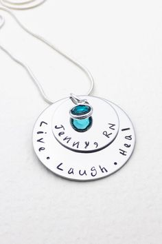 Hand Stamped Necklace For Nurse | Live Laugh Heal | Medical Professional Gift | Personalized Jewelry | Nurse's Necklace | Custom Jewelry by CathysCreationsJwlry