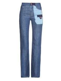 Patchwork denim wide-leg jeans  | See By Chloé | MATCHESFASHION.COM