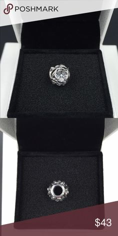 """Pandora Charm NWOT Pandora """"Mystic Floral"""" charm. Sterling silver and clear cubic zirconia. Properly hallmarked S925 ALE. Pandora box not available. No trades or off-Posh transactions. Thanks and happy Poshing!! Pandora Jewelry Bracelets"""