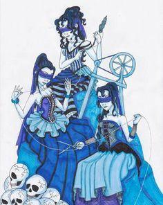 """As Parcas, 2008 Ai Don (contemporâneo) Caneta e """"Magic marker"""" sobre papel."""