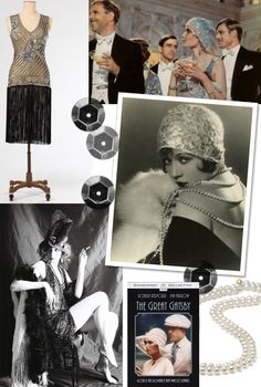 20's inspiration of The Great Gatsby posted by @lanaloustyle