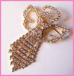 Vintage Rhinestone Angel Brooch Pin Pink & by BrightgemsTreasures, $24.50