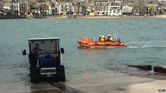 St Ives Inshore RNLI Lifeboat in March 2014