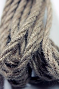 Asanawa Tossa Lite is made from tossa jute, as used in Japan, which gives a stronger rope that ages beautifully and is much darker than White Jute.