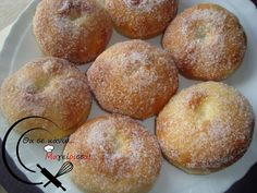 Donuts Φούρνου! Greek Cooking, Bagel, Doughnut, Sweet Recipes, Donuts, Muffin, Food And Drink, Sweets, Bread