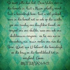 Onse Vader Gebed Mat 6:9-13