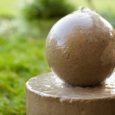 Add the soothing sound of trickling water to your backyard sanctuary with a sturdy concrete fountain. If you can mix concrete, you can build this project. Concrete Fountains, Mix Concrete, Garden Fountains, Water Fountains, Concrete Planters, Outdoor Fountains, Concrete Molds, Concrete Garden, Concrete Crafts