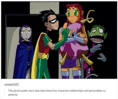 Disney, memes, and relationships: wisegur this picture pretty much describes these Teen Titans Fanart, Teen Titans Go, Teen Titans Funny, Memes Arte, Original Teen Titans, Beast Boy, Old Shows, Young Justice, Dc Heroes