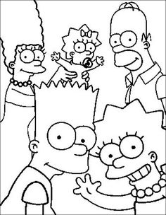 1000 images about coloriages simpsons on pinterest cartoon characters skateboard and saints - Coloriage les simpson ...