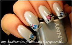 Nails and Stuff: Anny: Sporty Snowflake & water decals