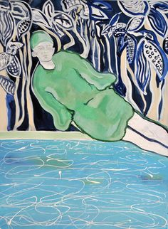 Erin Armstrong - Plunge- Available 48x36, Acrylic on Canvas Available, $1,500