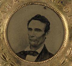 Lincoln Political Tintype Button