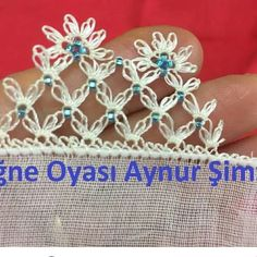 This Pin was discovered by はこ. Crochet Unique, Crochet Borders, Needle Lace, Flower Arrangements, Knots, Diy And Crafts, Projects To Try, Embroidery, Sewing