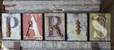 Paris Letters Sign Shabby Cottage Chic Home Decor