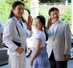 Crown Prince Naruhito and Crown Princess Masako with daughter Princess Aiko