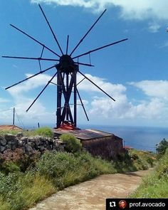 by The windmill at the end of the world. If this island feels far from anywhere Garafía is even further. Its rural quiet and unspoiled beauty are its greatest allures. Canary Islands, End Of The World, Windmill, Utility Pole, Avocado, Feels, Landscape, Holiday, Instagram Posts