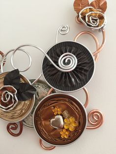 Handmade craft by Barbara Missaglia CoffeeBreak Bijoux