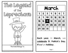 """The Legend of the Leprechaun"" ... This download includes a 10-page student book with text features, underlined key vocabulary, and traceable sight words. Following the book, there are three related literacy activities to reinforce comprehension, responsive writing, and word-work. #stpatricksday #leprechauns ($)"
