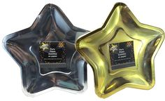 Amazon.com: Star Shaped Party Plates ~ 24 Plates (Silver & Gold): Health & Personal Care