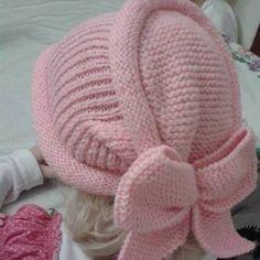 33 Ideas For Crochet Baby Turban Pattern Beanie Hats Baby Knitting Patterns, Knitting For Kids, Knitting Designs, Hand Knitting, Bonnet Crochet, Crochet Beanie, Crochet Baby, Knitted Hats, Knit Crochet