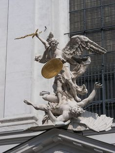 St. Michael the Archangel, defend us in battle. Be our protection against the wickedness and snares of the devil...""