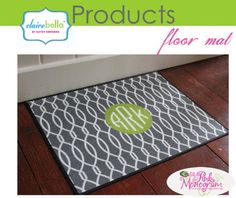Personalized Floor Mats from Clairebella