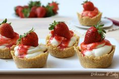 mini cheesecake alle fragole