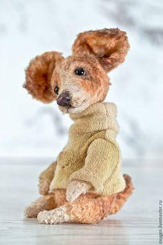 Teddy toy Puppy / Мишки Тедди ручной работы. Ярмарка Мастеров - ручная работа. Купить Собачка Тяпа. Handmade. Мишка, авторская игрушка