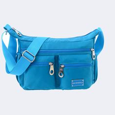 Nylon Lightweight Waterproof Crossbody Bags Multi Zipper Pockets Shoulder Bags  Worldwide delivery. Original best quality product for 70% of it's real price. Hurry up, buying it is extra profitable, because we have good production sources. 1 day products dispatch from warehouse. Fast &...