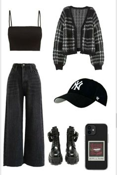 Swaggy Outfits, Best Casual Outfits, Edgy Outfits, Teen Fashion Outfits, Retro Outfits, Cool Outfits, Korean Girl Fashion, Looks Vintage, Polyvore Outfits